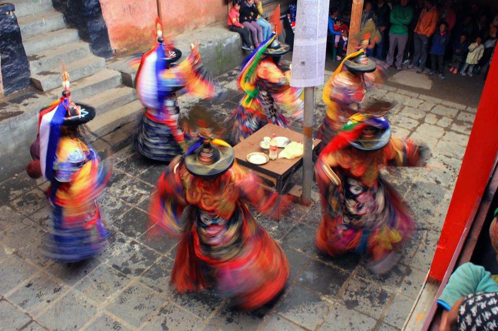 Buddhist mask dance
