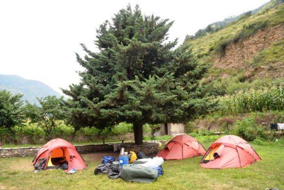 We sleep like kings in our Hilleberg tents.
