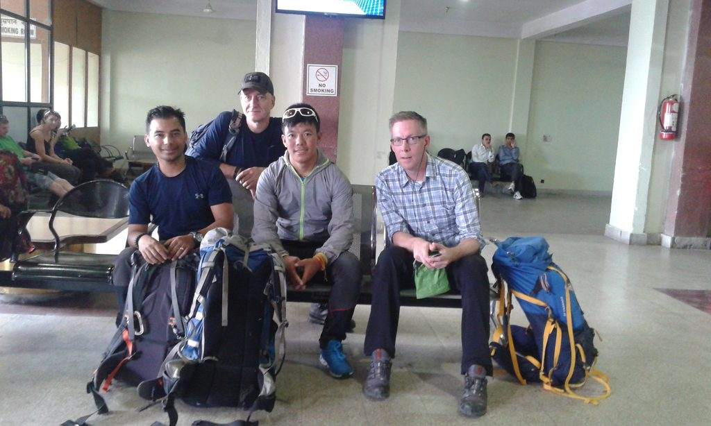 Waiting for our flight to Nepalgunj