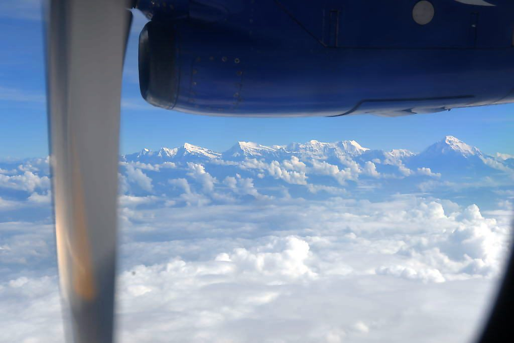 Dhaulagiri range seen from our flight