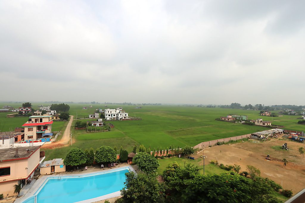 View from our hotel at Nepalgunj