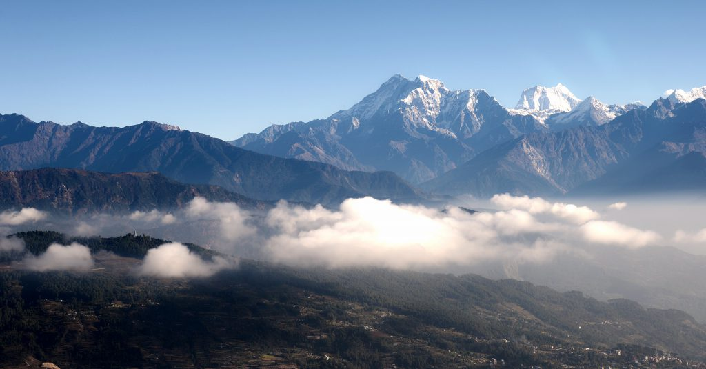 View of Ganesh Himal from Mountain flight