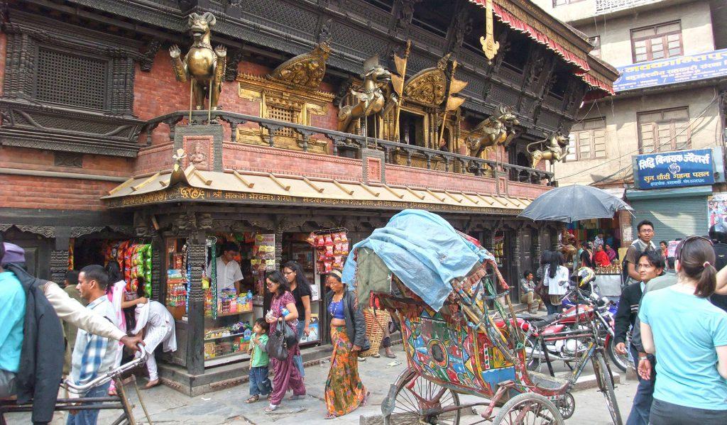 A street in Kathmandu